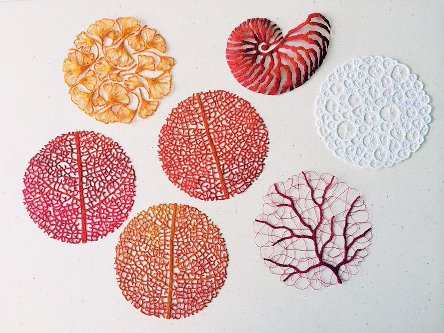 Artista borda las formas más bonitas de la naturaleza 12