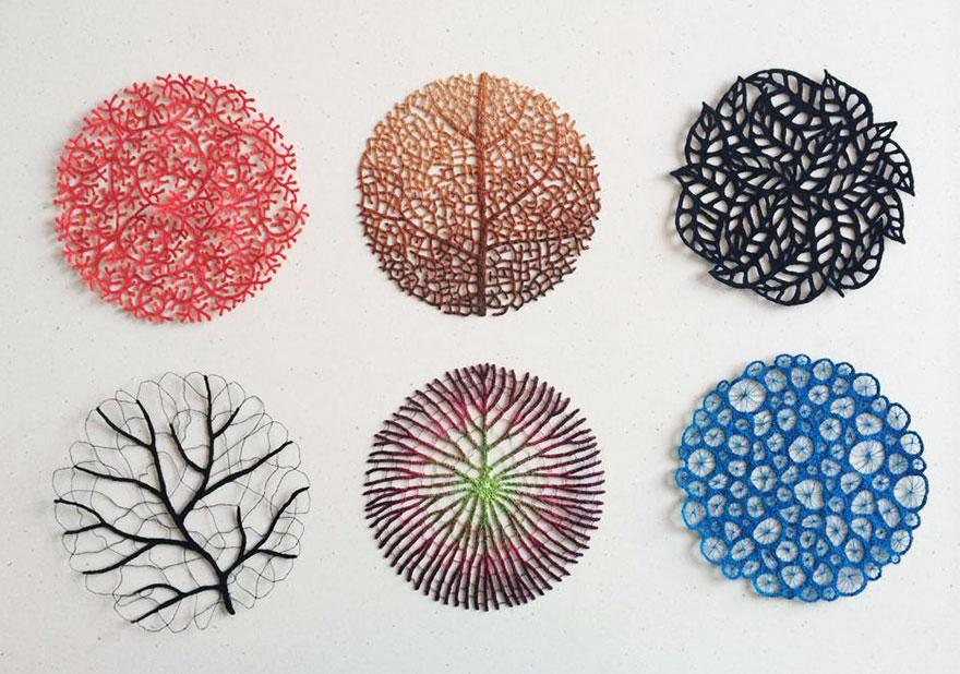 Artista borda las formas más bonitas de la naturaleza 17
