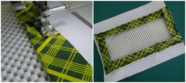 Coser una almohadilla antideslizante cinta