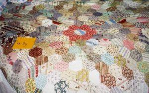 Grandmother's Flower Garden patchwork