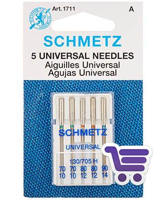 Schmetz para pespunte Caja de 100 agujas con 2mm Aguja Ojo Largo Costura 90//14