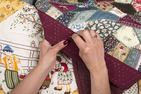 quilting a mano